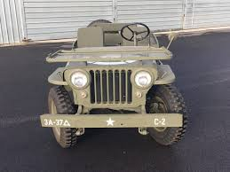 willys jeep truck for sale lots of new parts 1947 willys cj2a jeep military for sale
