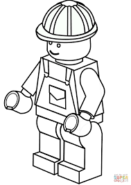 lego construction worker coloring page free printable coloring pages