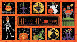 halloween fabric on sale farm road quilts fabric panel project ideas