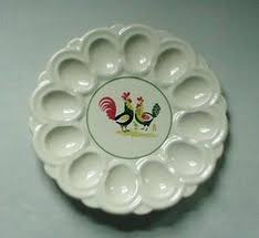 antique deviled egg plate pottery deviled egg plate egg plates cups holders