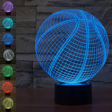 3d Lamps Amazon Basketball 3d Illusion Lamp Night Light Gawell 7 Colors Changing