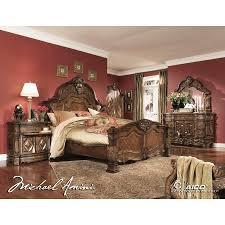 Fairmont Design Bedroom Set Aico 6pc Windsor Court King Size Bedroom Set In Vintage Fruitwood