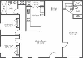 3 bedroom flat plan and design low cost house pictures drawing