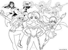 Coloriage Dc Superhero Girls Dessin Coloriage De Super Heros