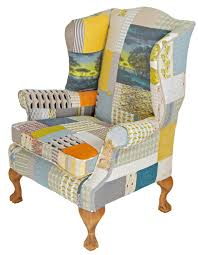 Wingback Armchair Uk Furniture Sable Ox In Patchwork Wingback Chair Furniture Photo