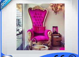 ds luxury royal style pink queen chair throne pedicure chair in