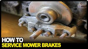 how to service lawnmower brakes youtube