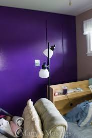 Purple Bedroom Accent Wall - accent wall color behr perpetual purple marty u0027s musings