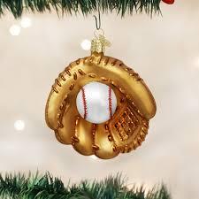 amazon com old world christmas baseball mitt glass blown ornament
