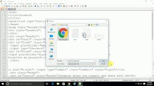 cortana take me to my facebook page how to make facebook login page in html notepad youtube