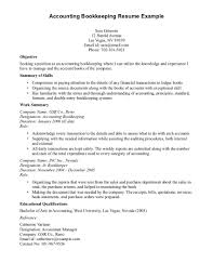 resume example bookkeeper resume sample bookkeeper resume