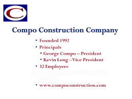 Construction Vice President Resume Our History Compo Construction Company