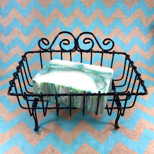 Shabby Chic Wire Basket by Vintage Wire Soap Basket Black Shabby Chic New