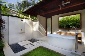 garden view bedroom en suite bathroom bali inspiration