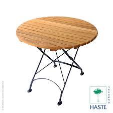 haste garden rebecca small round folding table haste garden table