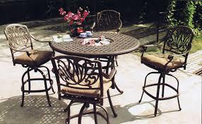 bar height patio table plans top cast aluminum bar height patio furniture optimizing home decor