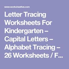 letter tracing worksheets for kindergarten u2013 capital letters