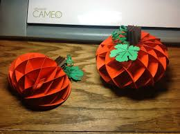 fall pumpkin decoration papercrafts and other fun things a honeycomb pumpkin decoration