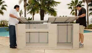 prefabricated outdoor kitchen islands outdoor kitchen modular kits homebuilding for islands designs