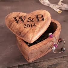 fifth anniversary gift personalised fifth anniversary gift heart box by cleancut wood