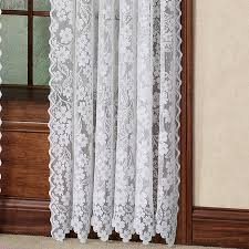 63 White Curtains Dogwood Flower Lace Curtain Panel Ecru Or White 63