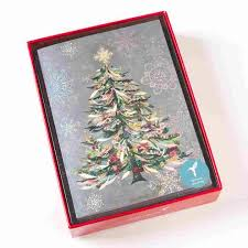 sonata pastel tree boxed cards set of 14 with