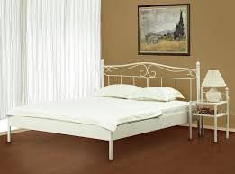 Schlafzimmer Mit Metallbett Metallbett Liana Altweiß Versch Größen Gestell Metall Farbe