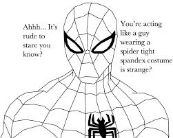 spiderman staring shadow759 deviantart