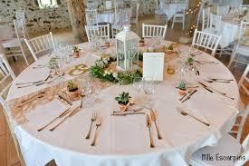 table mariage la décoration nature chic de notre mariage mlle escarpins