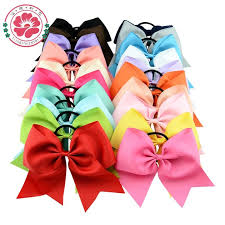 hair bows wholesale 8 inch large solid cheerleading hair bow grosgrain ribbon