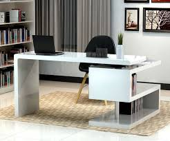 Office Desk With Cabinets Stunning Modern Home Office Desks With Unique White Glossy Desk