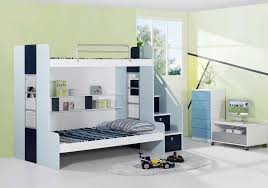 contemporary white bunk beds with desk of marvellous bed