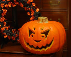 decoration picture of halloween and fall season decoration