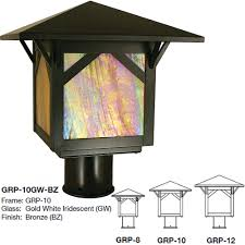 Crafstman by Arroyo Craftsman Grp Greenwood Mission Exterior Lamp Post Light