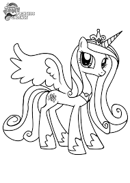 princess cadence my little pony princess coloring pages pages