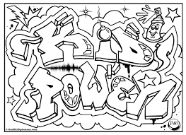 pics for u003e graffiti words coloring pages for teenagers