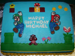 Super Mario Decorations Super Mario Cake Cakecentral Com