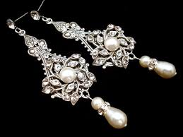 vintage wedding earrings chandeliers bridal earrings pearl wedding earrings wedding jewelry