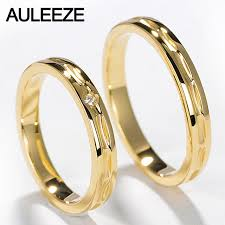 natural wedding rings images Auleeze unique design lovers 18k yellow gold couple ring real jpg