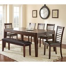 steve silver allison 6 piece dining table set walmart com