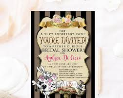 tea party bridal shower invitations mad hatter bridal shower invitation mad hatter tea party