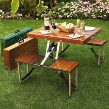 Folding Outdoor Table And Chairs 31 Alluring Picnic Table Ideas