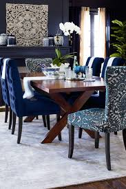 dining chair blue cloth dining room chairs wonderful blue fabric