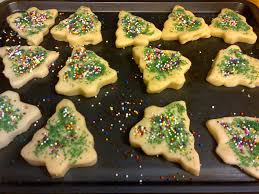 baking christmas tree shortbread cookies youtube