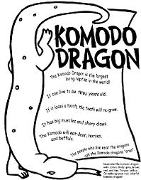 komodo dragon coloring crayola