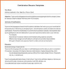 combination format resume functional resume template free