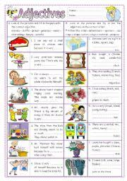 printable adjective worksheets free worksheets library download