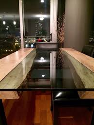 dining tables round dining room tables with leaves 8 person buy a hand made live edge wood and glass dining table in maple or custom made live edge wood and glass dining table in maple or black walnut