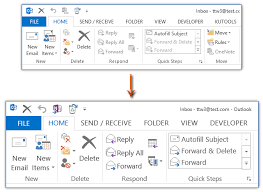 chagne ribbon how to change ribbon font size in outlook