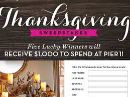 pier 1 imports housekeeping sweepstakes